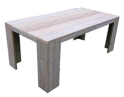 bouwtekening steigerhouten tafel