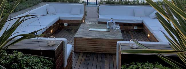 Bouwtekening loungeset steigerhout